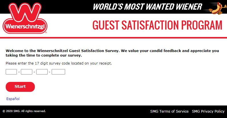 Wienerschnitzel Customer Satisfaction Survey