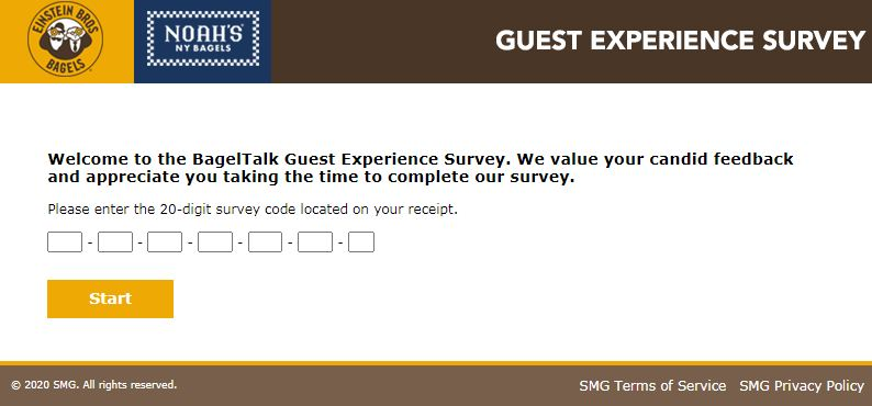 Einstein Bagels Guest Feedback Survey
