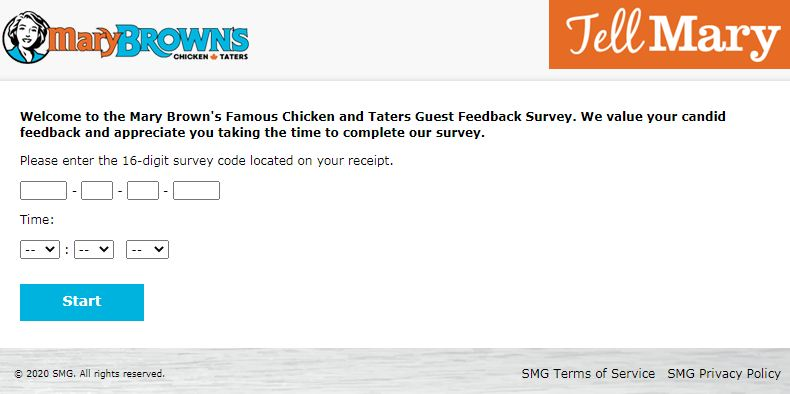 Mary Brown's Customer Service Survey.