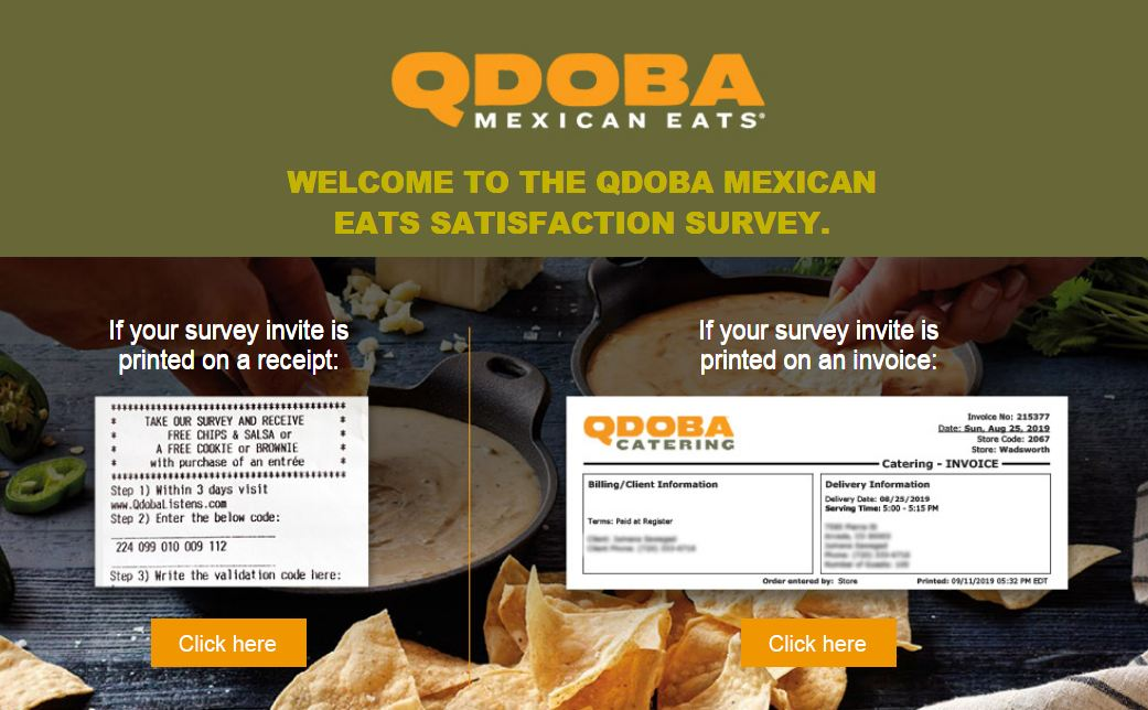 Qdoba Guest Opinion Survey