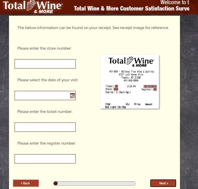 Total Wine Opinion Survey