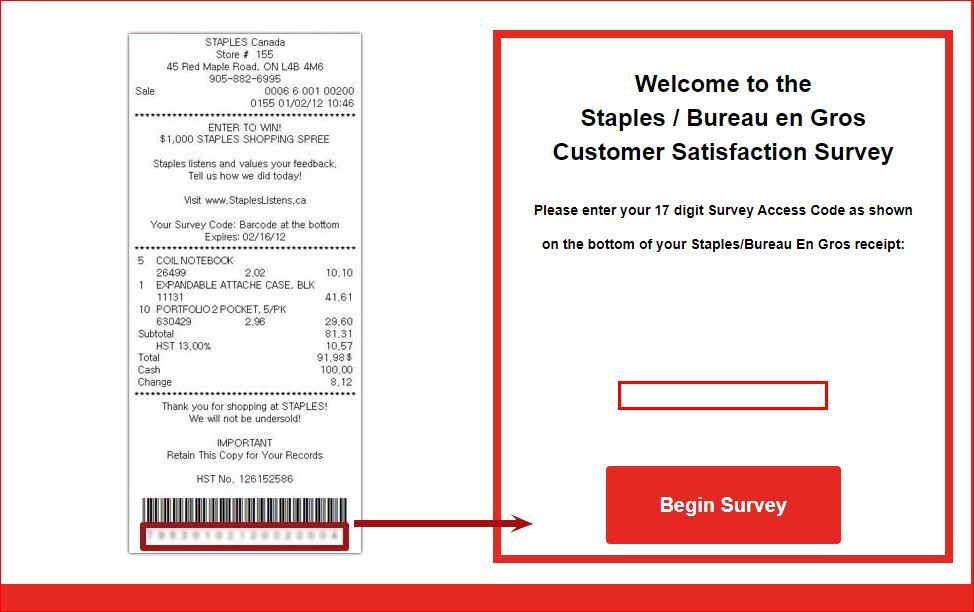 Bureau en Gros & Staples Guest Feedback Survey