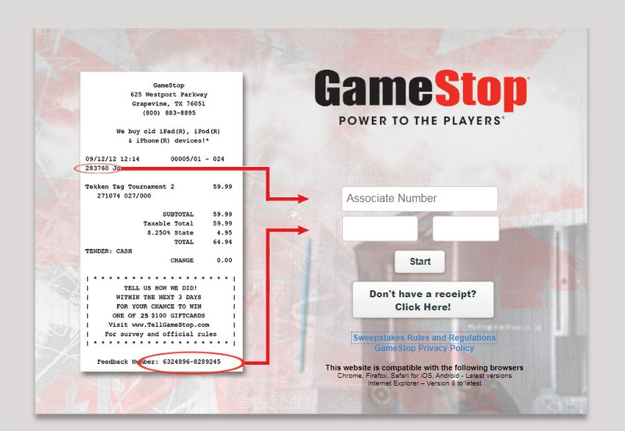 GameStop Experience Survey