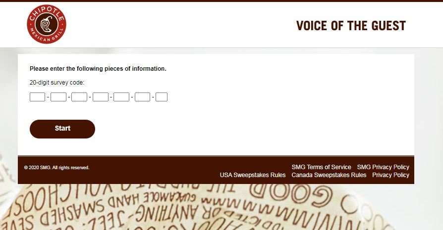 Chipotle Customer Opinion Survey